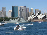 Picture relating to Sydney Harbour - titled ' Naval Centenary sail past.Sydney Harbour 2013'