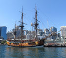 Picture relating to Darling Harbour - titled ' HM BARK  Endeavour Replica   Darling Harbour'