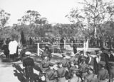 Picture relating to Duntroon - titled 'Ceremony at General Bridge' grave, Mt Pleasant (Duntroon).'