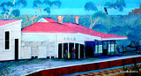 Picture relating to Collie - titled 'Collie Railway Station Mural'
