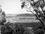 Picture relating to Braddon - titled 'Braddon and Civic Centre from Mount Ainslie, Ainslie Hotel to the left.'