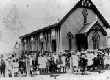 Picture relating to Cloncurry - titled 'St Colman's Catholic Church at Cloncurry in 1914'