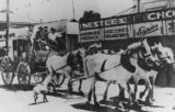 Picture relating to Charleville - titled 'Stagecoach and horses driven in the Centenary Celebrations Procession, Charleville, 1947'