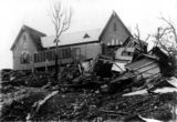 Picture relating to Townsville - titled 'Destruction of St. James Rectory by Cyclone Leonta, Townsville, 1903'
