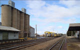 Picture relating to Donald - titled 'Wheat Silo freight centre and railway station Donald'