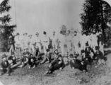 Picture relating to Queensland - titled 'Cricket team at an unidentified location in Queensland, 1885'