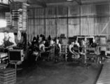 Picture relating to Ipswich - titled 'Workers in the Munitions Factory at Ipswich, ca. 1942'