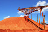 Picture relating to Gladstone - titled 'Bauxite Stockpile at Qld Alumina Gladstone Qld'