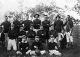 Picture relating to Pialba - titled 'Wanderer Rugby League Football Club from Pialba, 1910'