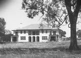 Picture relating to Adelaide Avenue - titled 'Front of Prime Minister's Lodge, Adelaide Avenue, Deakin.'