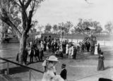 Picture relating to Pittsworth - titled 'Crowd enjoying Publican's Raceday at Pittsworth, March 1912'