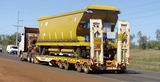 Picture relating to Port Hedland - titled 'Truck transporting iron ore railway car Port Hedland'