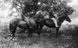 Picture relating to Queensland - titled 'Mr Nielson and Reverend Bacon on horseback'
