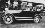 Picture relating to Buderim - titled 'Studebaker car parked outside Middleton's Store in Buderim, ca.1920'