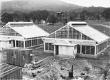 Picture relating to Black Mountain - titled 'Insectariums, under construction, CSIR, Clunies Ross Street, Black Mountain.'