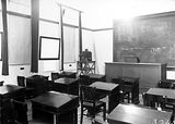 Picture relating to Yarralumla - titled 'Lecture Room, Australian Forestry School, Banks Street Yarralumla.'