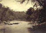 Picture relating to Brisbane River - titled 'Going down the rapids in the upper reaches of the Brisbane River'