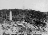 Picture relating to Mount Crosby - titled 'Mount Crosby Pumping Station under Construction, 1891'