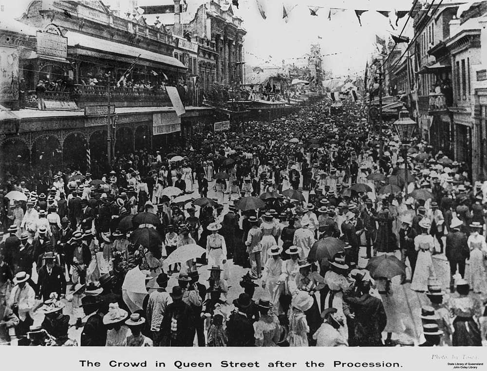 Picture of / about 'Brisbane' Queensland - Australian Commonwealth Celebrations in Queen Street, Brisbane, Queensland,1901