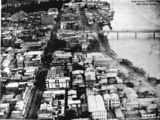 Picture relating to Brisbane - titled 'Aerial view of George Street, Brisbane, 1923'