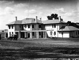 Picture relating to Deakin - titled 'Prime Minister's Lodge with Pergola, Adelaide Avenue, Deakin, from the west.'