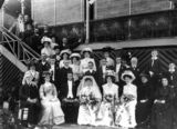 Picture relating to Queensland - titled 'Wedding group in front of a Queenslander house, 1900-1910'