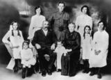 Picture relating to Queensland - titled 'William and Mary Bates and their family, ca. 1916'