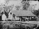 Picture relating to Bethania - titled 'Holzheimer farm at Bethania, Queensland, ca. 1872'
