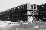 Picture relating to Black Mountain - titled 'CSIR Administration and Laboratory Building, Clunies Ross Street, Acton Black Mountain, under construction.'