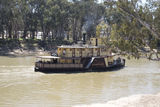 "Picture relating to Echuca West - titled 'P.S. ""EmmyLou"" approaching Echuca wharf.'"