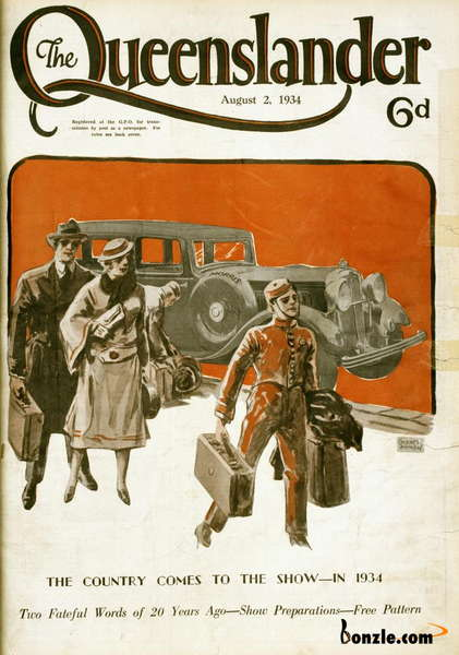 Picture of / about 'Queensland' Queensland - Illustrated front cover from The Queenslander, 2 August 1934