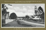 Picture relating to Gympie - titled 'Street scene featuring the Gympie Court House and clock tower, ca. 1915'