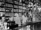 Picture relating to Killarney - titled 'Interior of a shop at Killarney, 1910-1920'