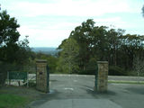 Picture relating to Mount Lofty - titled 'Mount Lofty Botanic Garden gates'