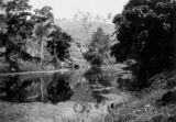 Picture relating to Canungra Creek - titled 'Still waters of Canungra Creek, 1931'