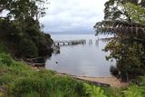 Picture relating to Sarah Island - titled 'Old Jetty, Sarah Island Penal Station, Tasmania'