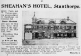 Picture relating to Stanthorpe - titled 'Advertisement for Sheahan's Hotel, formerly the Horse and Jockey Hotel, 1908'