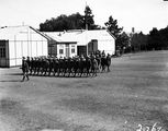 Picture relating to Duntroon - titled 'Empire Parliamentary Association march past of cadets in review at Duntroon'