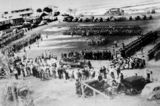 Picture relating to Caloundra - titled 'Soldiers on the parade ground at Caloundra, ca. 1942'