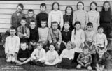 Picture relating to Wallangarra - titled 'Group portrait of schoolchildren of the Wallangarra State School, ca. 1914'
