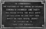 Picture relating to Cardwell - titled 'Commemorative stone for Edmund B. C. Kennedy, unveiled at Cardwell, 1948'