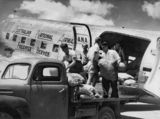 Picture relating to Queensland - titled 'Airline freight handling, 1954'