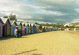 Picture relating to Brighton Beach - titled 'Bathing boxes on Brighton Beach'