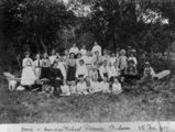 Picture relating to Bulwer - titled 'Sunday school picnic at Bulwer on Moreton Island, Queensland, 1907'