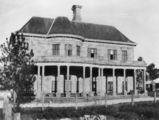 Picture relating to Jimbour - titled 'One end of Jimbour House, Darling Downs, Queensland ca. 1925'