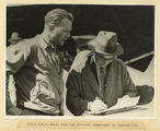 Picture relating to Charleville - titled 'Pilot C. W. A. Scott with the official timekeeper at Charleville, 1934'
