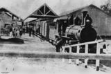 Picture relating to Barcaldine - titled 'Steam train at Barcaldine Station, Queensland, ca. 1906'