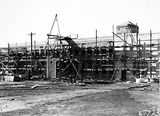 Picture relating to Black Mountain - titled 'CSIR Office and Laboratory Building, under construction, Clunies Ross Street, Black Mountain.'