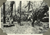 Picture relating to Bunya Mountains - titled 'Carrying the tucker bags on a hike through the Bunya Mountains, ca. 1935'