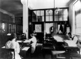Picture of / about 'Brisbane' Queensland - Accounts branch, Government Printing Office, Brisbane, 1921